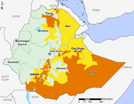 Ethiopia March 2017 Food Security Projections for June to September