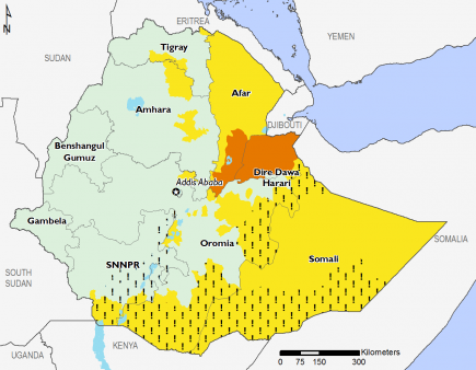 Ethiopia November 2016 Food Security Projections for November to January