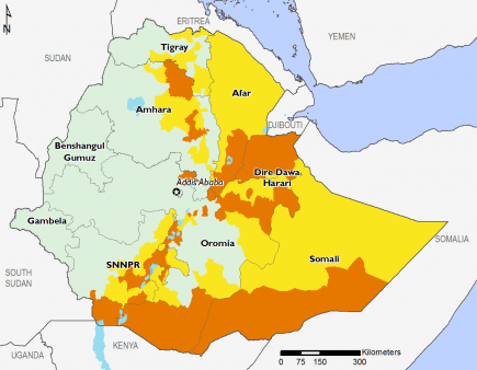 Ethiopia November 2016 Food Security Projections for February to May