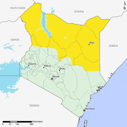 Kenya April 2016 Food Security Projections for April to May