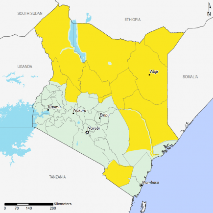 Kenya April 2016 Food Security Projections for June to September