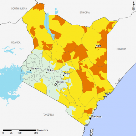Kenya December 2016 Food Security Projections for February to May