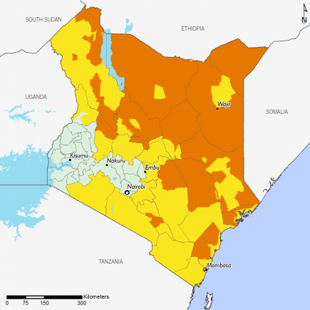 Kenya February 2017 Food Security Projections for June to September