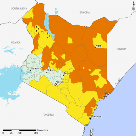 Kenya July 2017 Food Security Projections for July to September