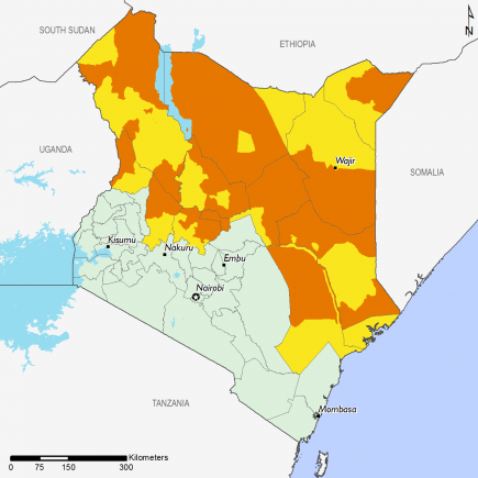 Kenya July 2017 Food Security Projections for October to January
