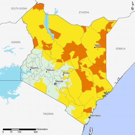 Kenya November 2016 Food Security Projections for February to May