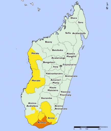 Madagascar February 2016 Food Security Projections for June to September