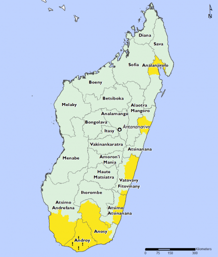 Madagascar April 2017 Food Security Projections for April to May