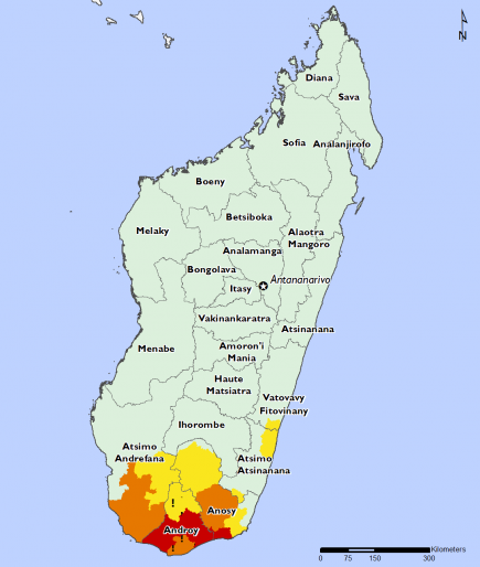 Madagascar October 2016 Food Security Projections for October to January