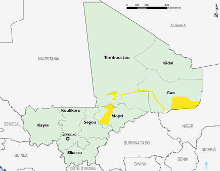 Mali February 2017 Food Security Projections for February to May