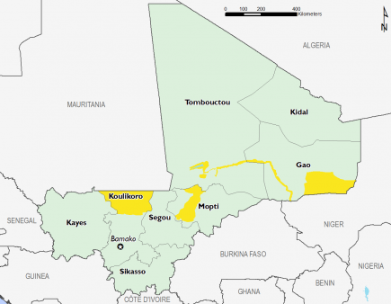 Mali February 2017 Food Security Projections for June to September
