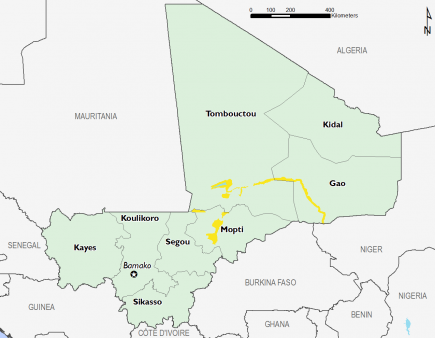 Mali October 2016 Food Security Projections for February to May