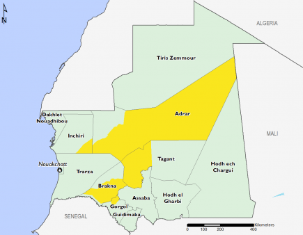 Mauritania April 2016 Food Security Projections for April to May