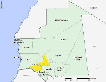 Mauritania August 2016 Food Security Projections for August to September