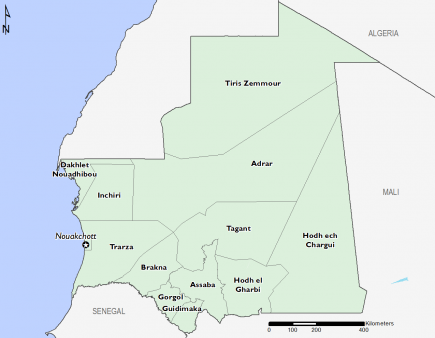 Mauritania August 2016 Food Security Projections for October to January