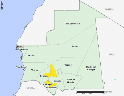 Mauritania February 2017 Food Security Projections for February to May