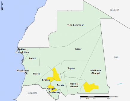 Mauritania April 2017 Food Security Projections for June to September