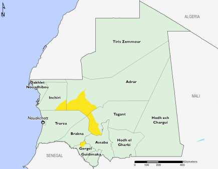 Mauritania March 2016 Food Security Projections for June to September