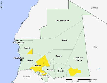 Mauritania August 2017 Food Security Projections for August to September