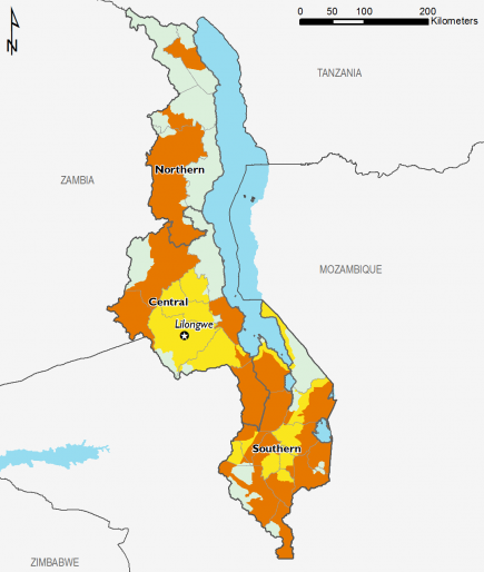 Malawi February 2016 Food Security Projections for February to May