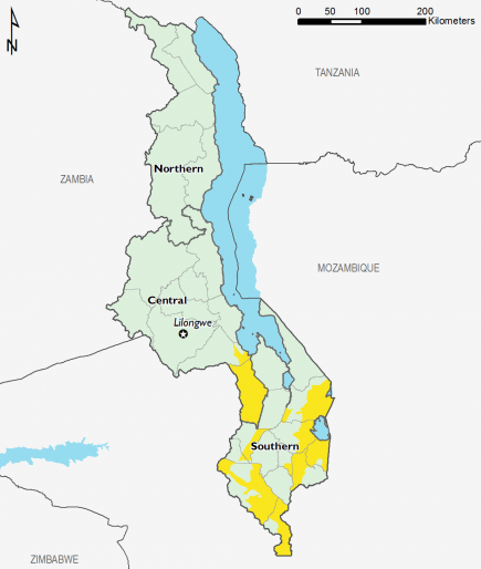Malawi February 2016 Food Security Projections for June to September