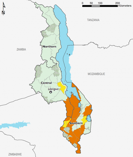 Malawi June 2016 Food Security Projections for June to September