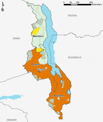 Malawi June 2016 Food Security Projections for October to January
