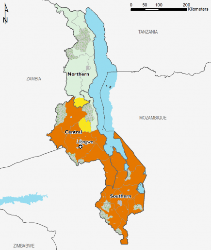 Malawi October 2016 Food Security Projections for October to January
