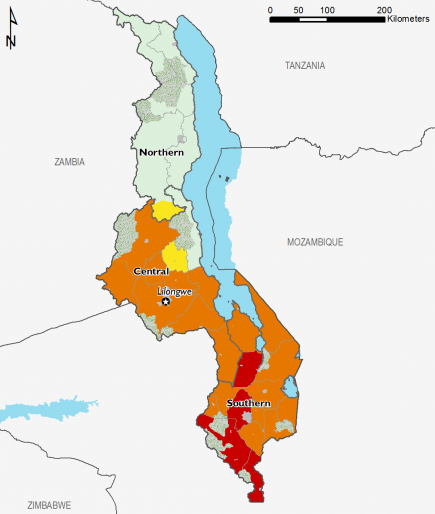 Malawi October 2016 Food Security Projections for February to May