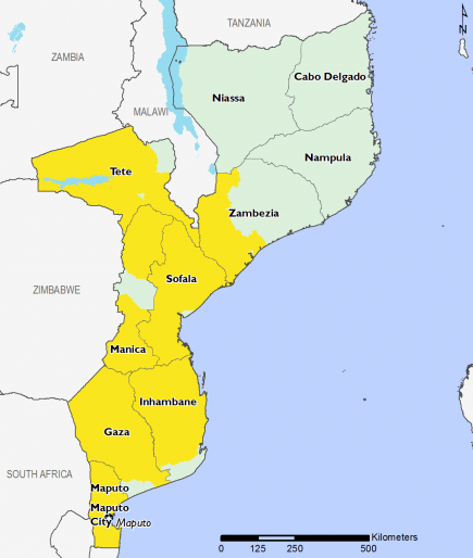 Mozambique May 2017 Food Security Projections for May