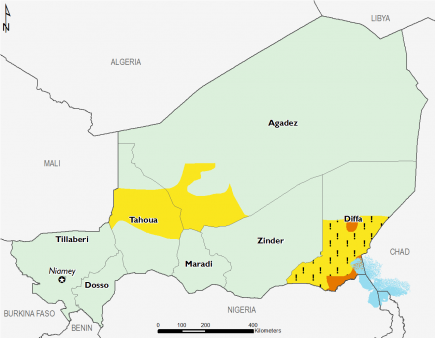 Niger August 2016 Food Security Projections for August to September
