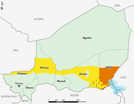 Niger April 2016 Food Security Projections for April to May