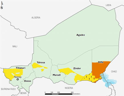 Niger April 2016 Food Security Projections for June to September