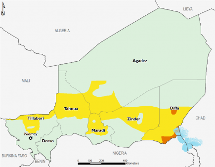 Niger April 2017 Food Security Projections for April to May