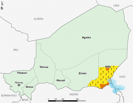 Niger June 2016 Food Security Projections for October to January