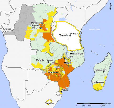 Southern Africa March 2017 Food Security Projections for March to May