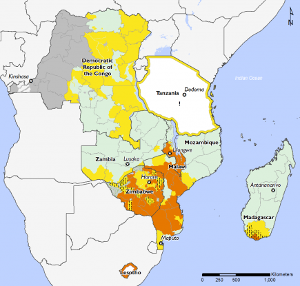Southern Africa November 2016 Food Security Projections for November to January