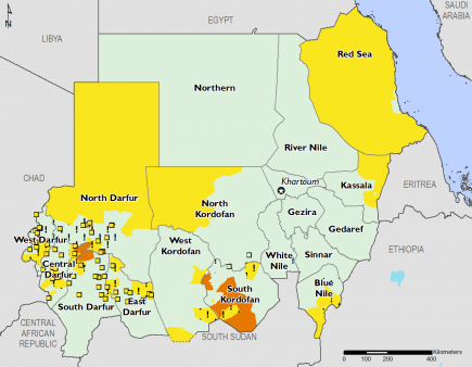 Sudan February 2017 Food Security Projections for February to May