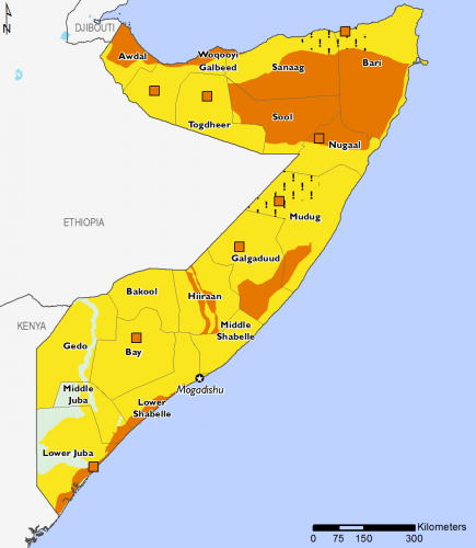 Somalia December 2016 Food Security Projections for December to January