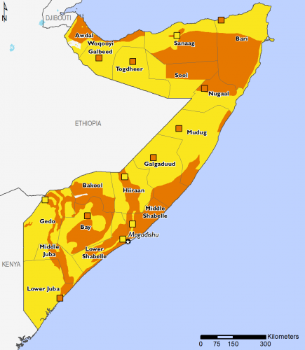Somalia July 2016 Food Security Projections for October to January