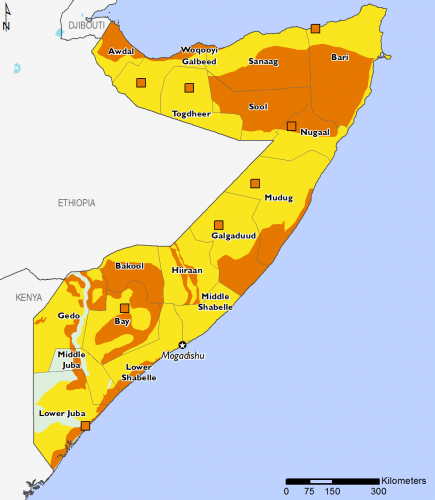 Somalia November 2016 Food Security Projections for February to May