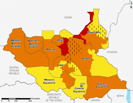 South Sudan March 2016 Food Security Projections for March to May