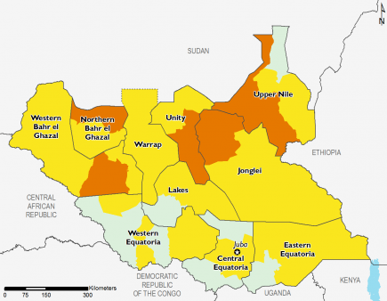 South Sudan July 2016 Food Security Projections for October to January