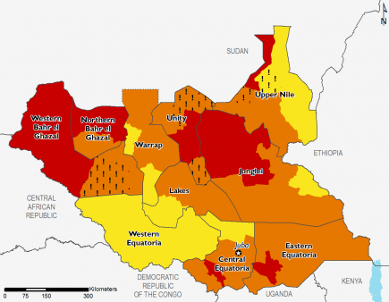 South Sudan July 2017 Food Security Projections for July to September