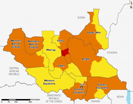 South Sudan July 2017 Food Security Projections for October to January