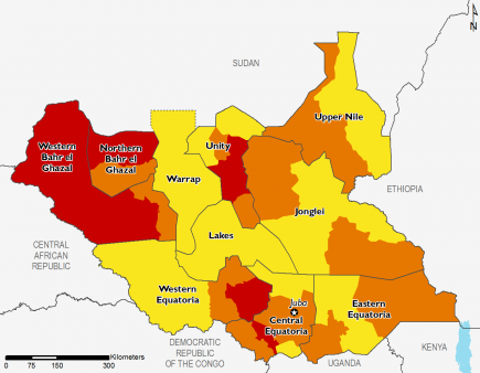 South Sudan October 2016 Food Security Projections for October to January