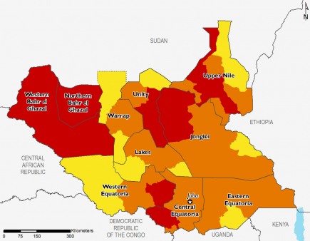 South Sudan October 2016 Food Security Projections for February to May