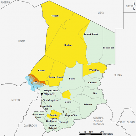 Chad April 2017 Food Security Projections for April to May