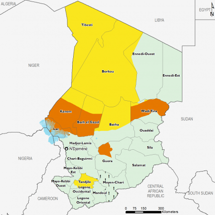 Chad April 2017 Food Security Projections for June to September
