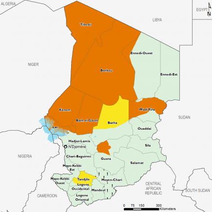 Chad March 2017 Food Security Projections for June to September